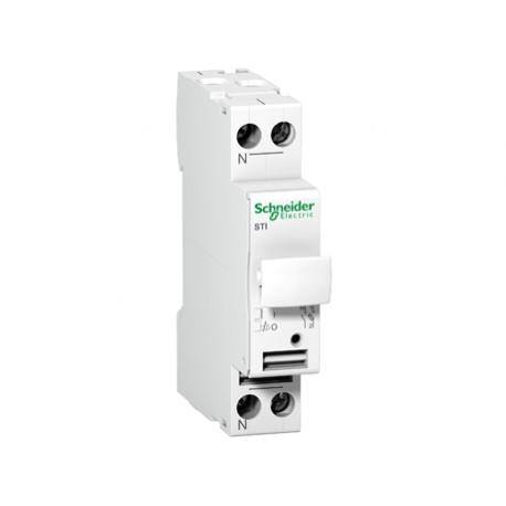 Podstawa bezpiecznikowa Schneider STI-1P+N-380V A9N15645 1P + N 20kA AC