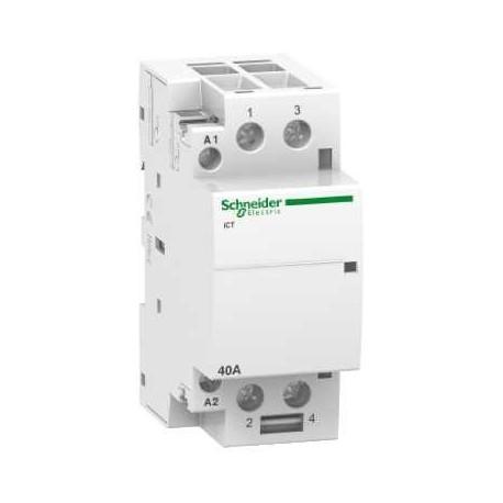 Stycznik modułowy Schneider iCT50-40/15-220/240-2NO A9C20842 2P 40A AC