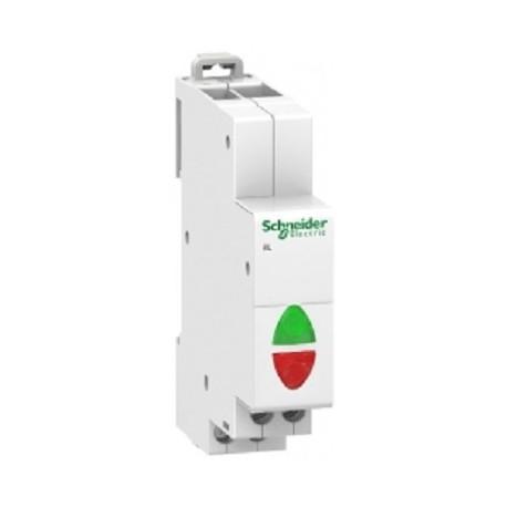 Lampka modułowa podwójna zielono/czerwona Schneider iIL 110/230V AC A9E18325