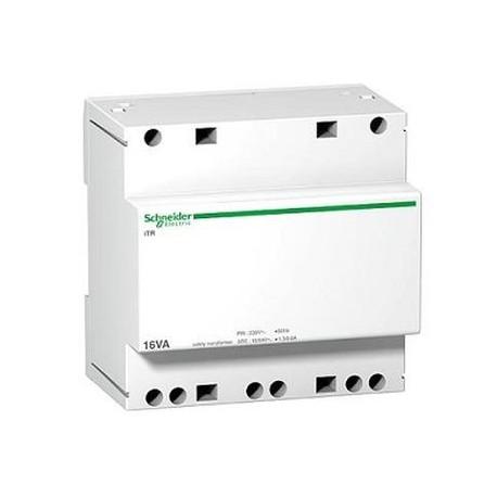 Transformator bezpieczeństwa Schneider iTR-bez-16/12-24 A9A15218 16VA 12-24V AC 230 V AC