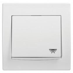"""Przycisk """"światło"""" z podśw. Schneider Anya AYA1800121 biały"""