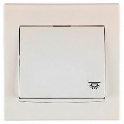 """Przycisk """"światło"""" z podśw. Schneider Anya AYA1800123 kremowy"""