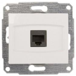 Gniazdo komputerowe RJ45 b/ramki kat. 5e Schneider Anya AYA4300221 białe