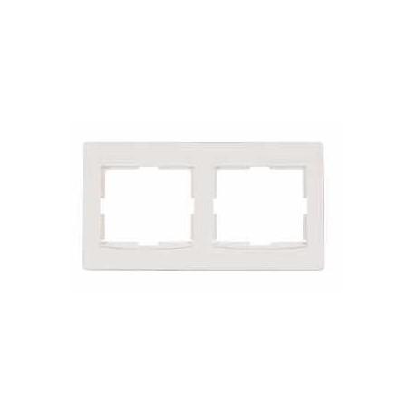 Ramka 2-krotna pozioma Schneider Anya AYA5800323 kremowa