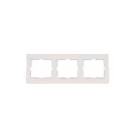 Ramka 3-krotna pozioma Schneider Anya AYA5800523 kremowa