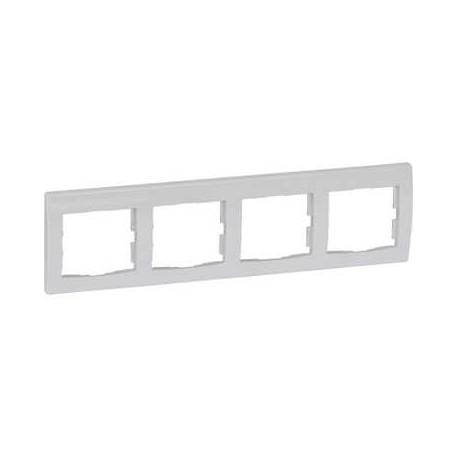 Ramka 4-krotna pozioma Schneider Anya AYA5800721 biała