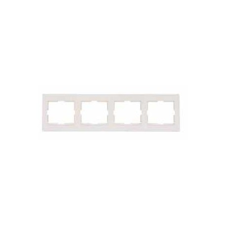 Ramka 4-krotna pozioma Schneider Anya AYA5800723 kremowa