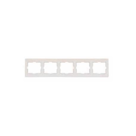 Ramka 5-krotna pozioma Schneider Anya AYA5800923 kremowa