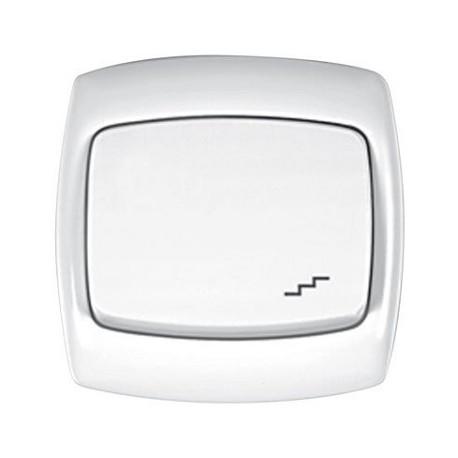 Łącznik 1-biegunowy schodowy Schneider Bingo WPT5B01 biały