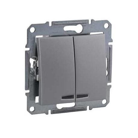 Łącznik świecznikowy z podśw. Schneider Sedna SDN0300360 aluminium
