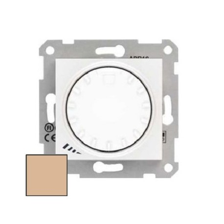 Ściemniacz przyciskowo-obrotowy Schneider Sedna RL/RC SDN2201123 kremowy