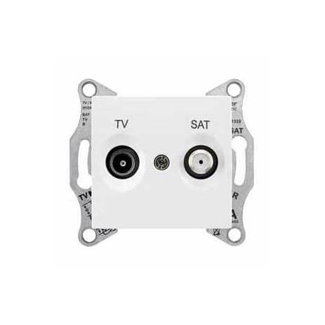 Gniazdo TV/SAT przelotowe Schneider Sedna SDN3401221 biały