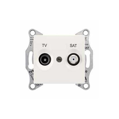 Gniazdo TV/SAT końcowe Schneider Sedna SDN3401623 kremowy
