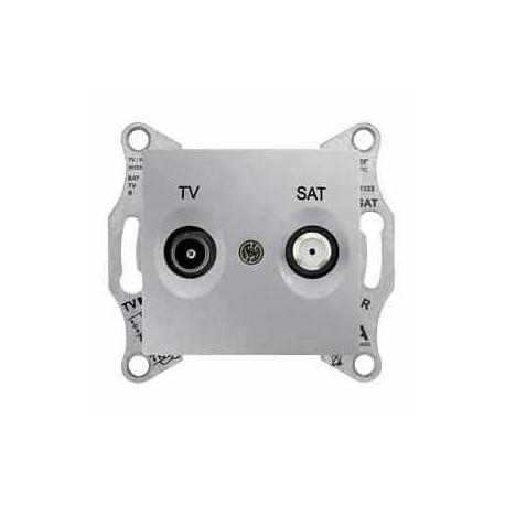 Gniazdo TV/SAT końcowe Schneider Sedna SDN3401660 aluminium