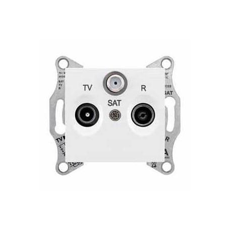 Gniazdo R/TV/SAT przelotowe Schneider Sedna SDN3501221 biały