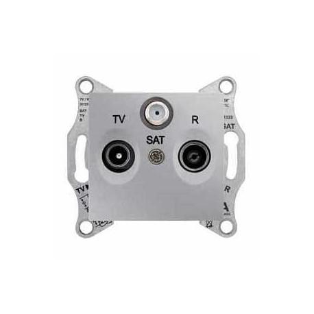 Gniazdo TV/SAT/SAT końcowe Schneider Sedna SDN3502160 aluminium