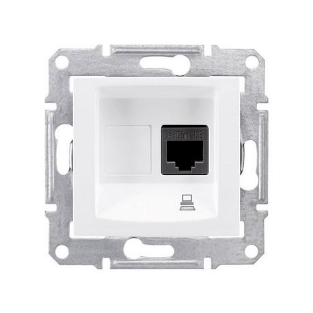 Gniazdo komputerowe kat. 5e ekran. Schneider Sedna SDN4500121 biały