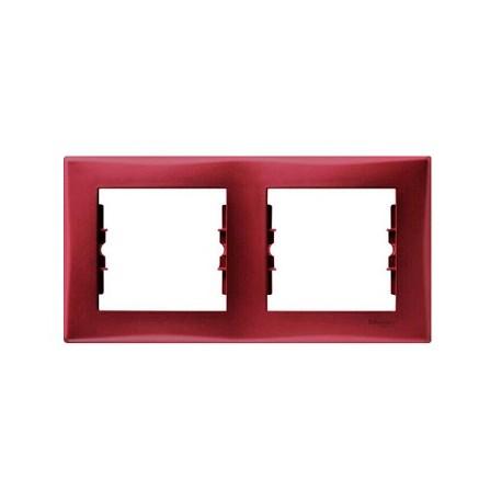 Ramka 2-krotna pozioma Schneider Sedna SDN5800341 czerwony