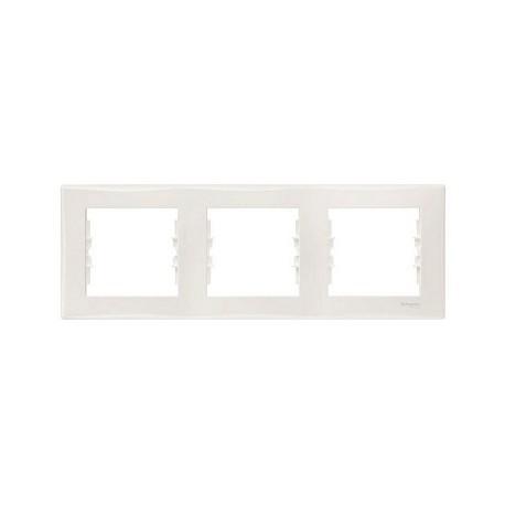 Ramka 3-krotna pozioma Schneider Sedna SDN5800521 biały