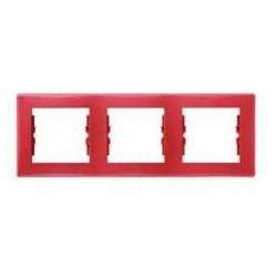 Ramka 3-krotna pozioma Schneider Sedna SDN5800541 czerwony
