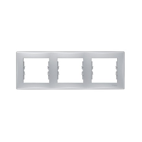 Ramka 3-krotna pozioma Schneider Sedna SDN5800560 aluminium