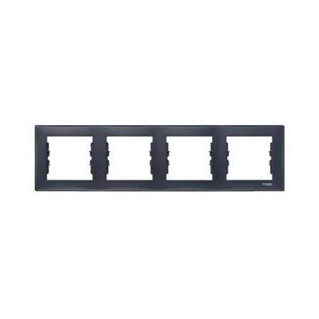 Ramka 4-krotna pozioma Schneider Sedna SDN5800770 grafitowy