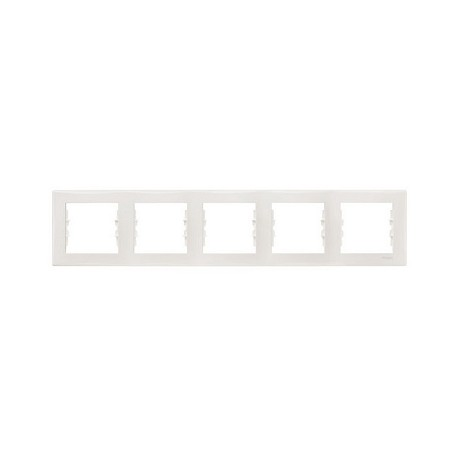 Ramka 5-krotna pozioma Schneider Sedna SDN5800921 biały