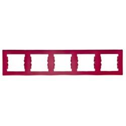 Ramka 5-krotna pozioma Schneider Sedna SDN5800941 czerwony