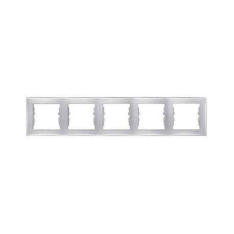 Ramka 5-krotna pozioma Schneider Sedna SDN5800960 aluminium