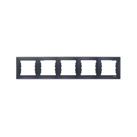Ramka 5-krotna pozioma Schneider Sedna SDN5800970 grafitowy