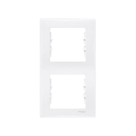 Ramka 2-krotna pionowa Schneider Sedna SDN5801121 biały