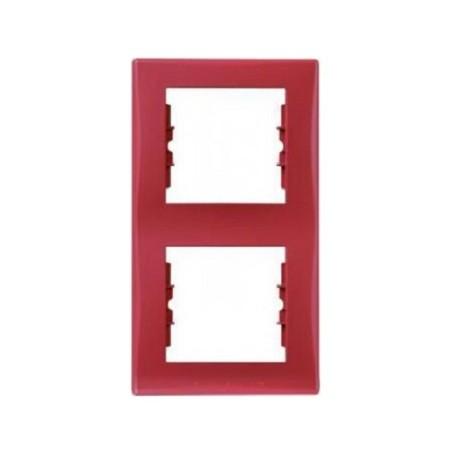 Ramka 2-krotna pionowa Schneider Sedna SDN5801141 czerwony
