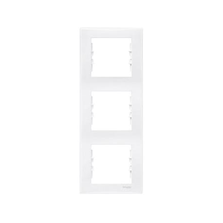Ramka 3-krotna pionowa Schneider Sedna SDN5801321 biały