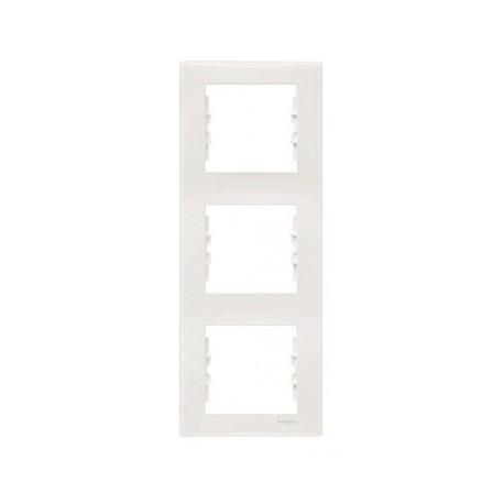 Ramka 3-krotna pionowa Schneider Sedna SDN5801323 kremowy