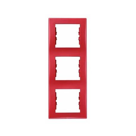 Ramka 3-krotna pionowa Schneider Sedna SDN5801341 czerwony