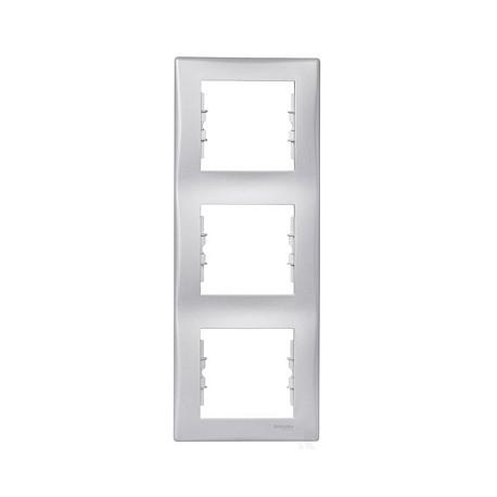 Ramka 3-krotna pionowa Schneider Sedna SDN5801360 aluminium