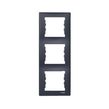 Ramka 3-krotna pionowa Schneider Sedna SDN5801370 grafitowy