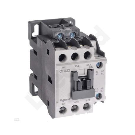 Stycznik Legrand CTX3 416084 3P 9A 1NO1NC 110V AC