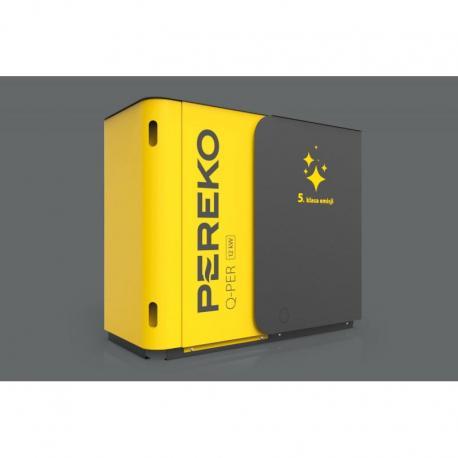 Kocioł 5 klasy c.o. PEREKO Q-Per 12 kW z podajnikiem na ekogroszek
