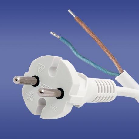 przewód przylaczeniowy W-6 OMY 2X1 biały
