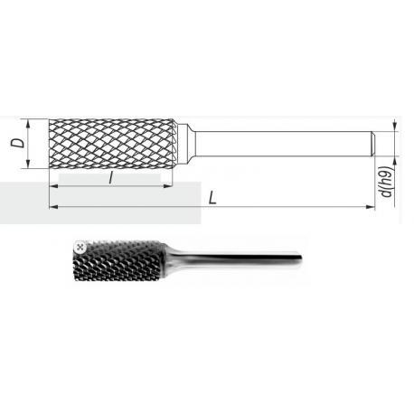 DIN 8033-ZYA 10x20 S VHM Pilnik