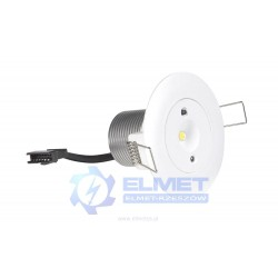 Oprawa awaryjna Intelight STARLET LED SO 3 W SA 3h SA/A MT biała