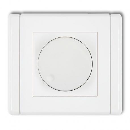 Karlik FLEXI Elektroniczny regulator oświetlenia przyciskowo-obrotowy do lamp LED biały FRO-2