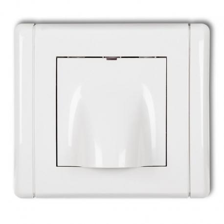 Karlik Wypust kablowy FLEXI biały