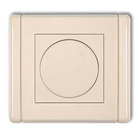 Karlik FLEXI Elektroniczny regulator oświetlenia przyciskowo-obrotowy beżowy 1FRO-1