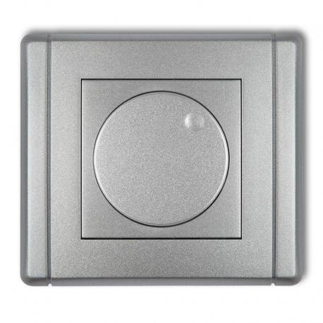 Karlik FLEXI Elektroniczny regulator oświetlenia przyciskowo-obrotowy do lamp LED srebrny metalik 7FRO-2