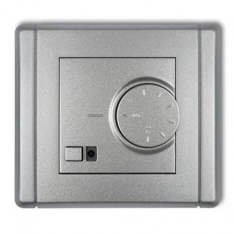 Karlik FLEXI Elektroniczny regulator temperatury z czujnikiem podpodłogowym srebrny metalik 7FRT-1