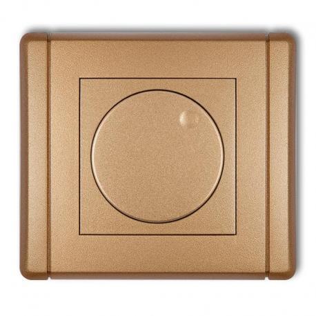 Karlik FLEXI Elektroniczny regulator oświetlenia przyciskowo-obrotowy złoty metalik 8FRO-1