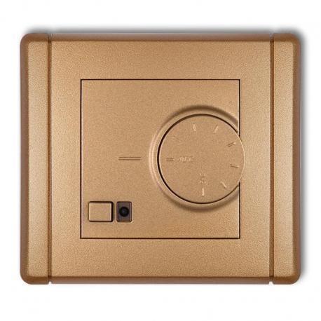 Karlik FLEXI Elektroniczny regulator temperatury z czujnikiem podpodłogowym złoty metalik 8FRT-1