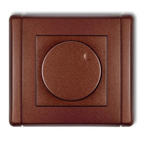 Karlik FLEXI Elektroniczny regulator oświetlenia przyciskowo-obrotowy brązowy metalik 9FRO-1